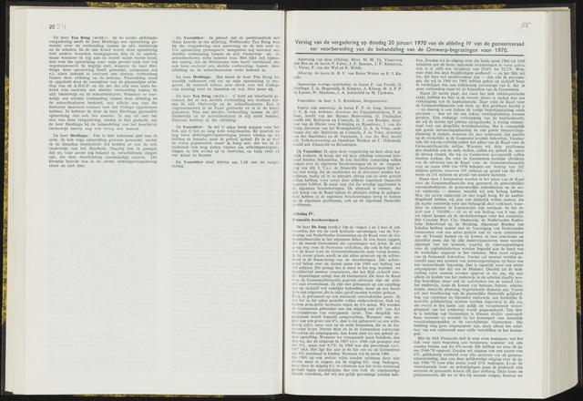 Raadsverslagen van de gemeente Leeuwarden, 1865-2007 (Notulen) 1970-01-20
