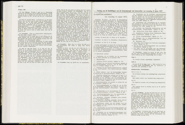 Raadsverslagen van de gemeente Leeuwarden, 1865-2007 (Notulen) 1972-03-13