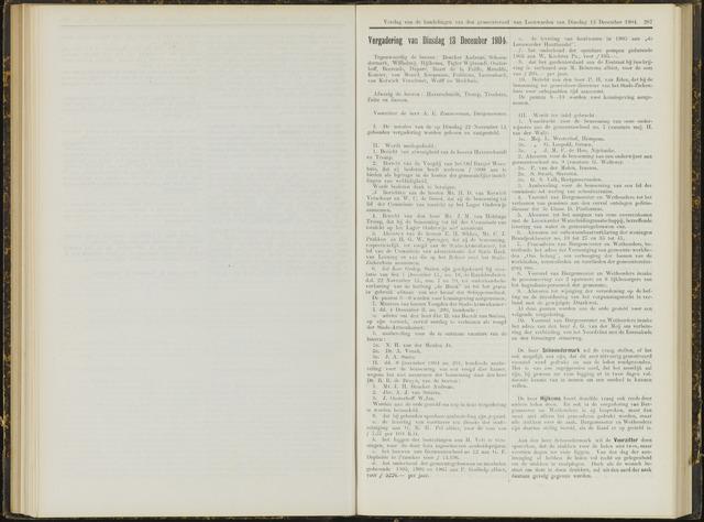 Raadsverslagen van de gemeente Leeuwarden, 1865-2007 (Notulen) 1904-12-13