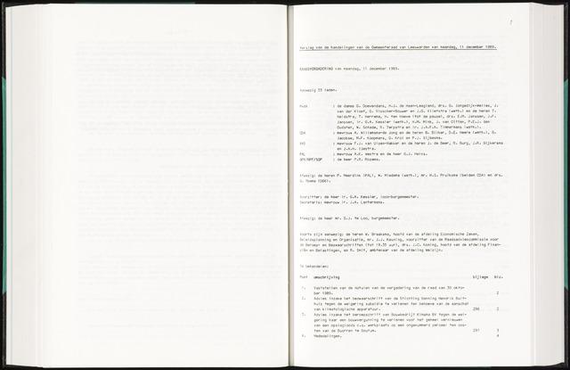 Raadsverslagen van de gemeente Leeuwarden, 1865-2007 (Notulen) 1989-12-11