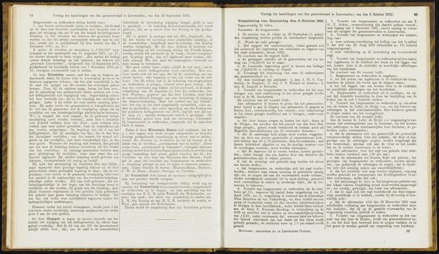 Raadsverslagen van de gemeente Leeuwarden, 1865-2007 (Notulen) 1881-10-06