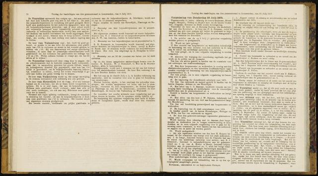 Raadsverslagen van de gemeente Leeuwarden, 1865-2007 (Notulen) 1875-07-22