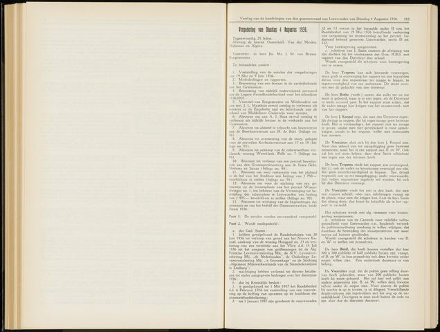 Raadsverslagen van de gemeente Leeuwarden, 1865-2007 (Notulen) 1936-08-04