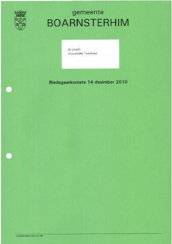 Boarnsterhim vergaderstukken gemeenteraad  2010-12-14