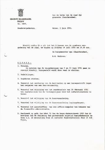 raadsverslagen Idaarderadeel 1935-1983 1981-07-14