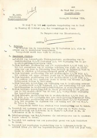 raadsverslagen Idaarderadeel 1935-1983 1954-10-25