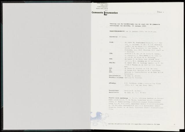 Raadsverslagen van de gemeente Leeuwarden, 1865-2007 (Notulen) 2002