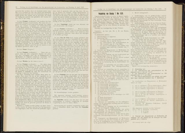 Raadsverslagen van de gemeente Leeuwarden, 1865-2007 (Notulen) 1929-05-07