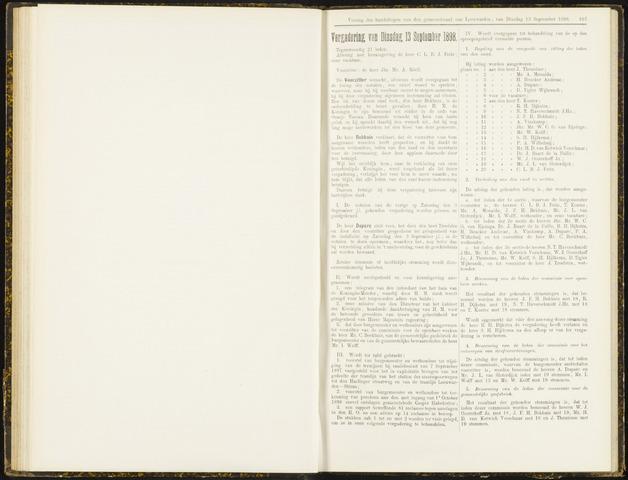 Raadsverslagen van de gemeente Leeuwarden, 1865-2007 (Notulen) 1898-09-13