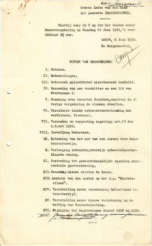 raadsverslagen Idaarderadeel 1935-1983 1939-06-12