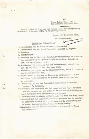 raadsverslagen Idaarderadeel 1935-1983 1949-10-03