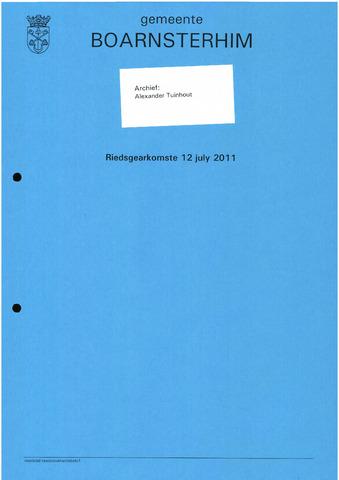 Boarnsterhim vergaderstukken gemeenteraad  2011-07-12