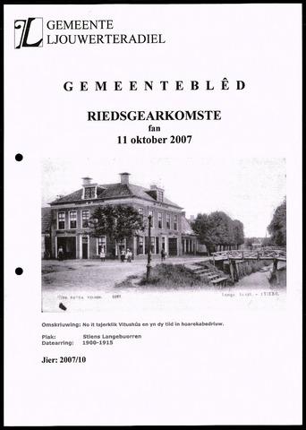 Notulen van de gemeenteraad van Leeuwarderadeel 2007-10-11