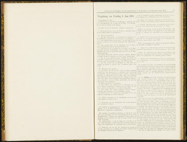 Raadsverslagen van de gemeente Leeuwarden, 1865-2007 (Notulen) 1891-06-06