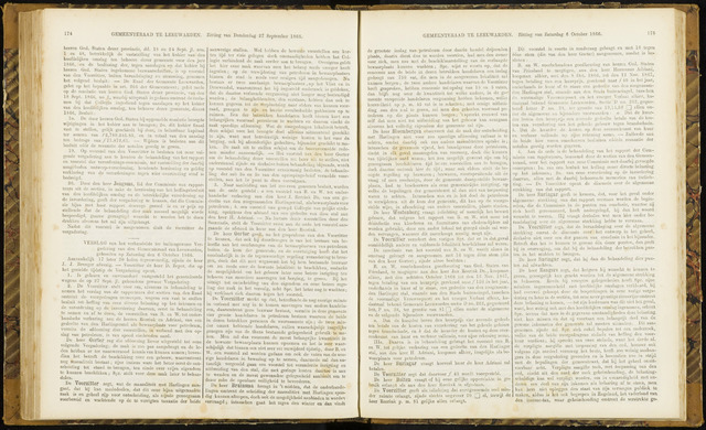 Raadsverslagen van de gemeente Leeuwarden, 1865-2007 (Notulen) 1866-10-06