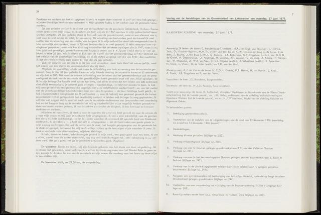 Raadsverslagen van de gemeente Leeuwarden, 1865-2007 (Notulen) 1977-06-27