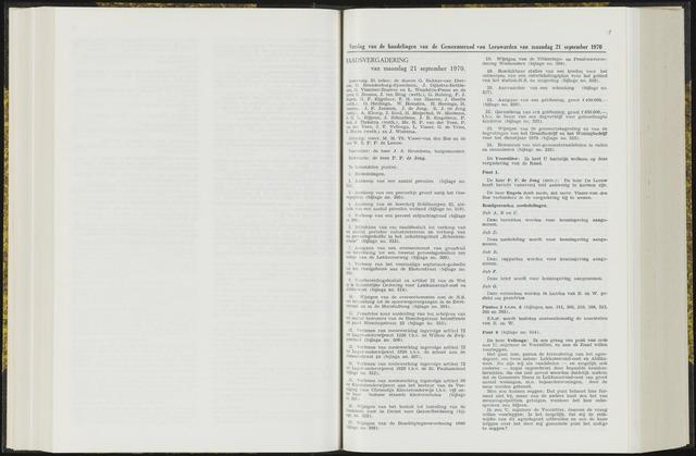 Raadsverslagen van de gemeente Leeuwarden, 1865-2007 (Notulen) 1970-09-21