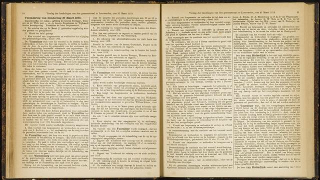 Raadsverslagen van de gemeente Leeuwarden, 1865-2007 (Notulen) 1873-03-27