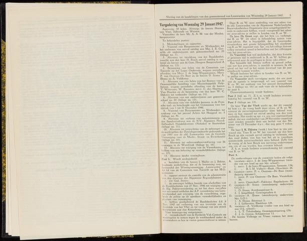 Raadsverslagen van de gemeente Leeuwarden, 1865-2007 (Notulen) 1947-01-29