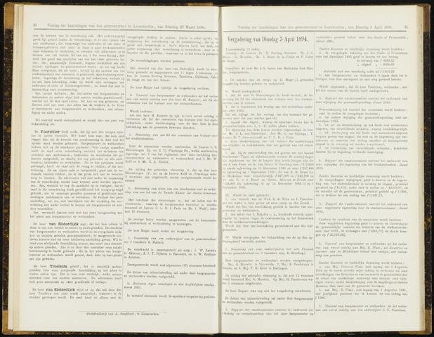 Raadsverslagen van de gemeente Leeuwarden, 1865-2007 (Notulen) 1894-04-03