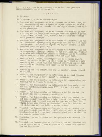Notulen van de gemeenteraad van Leeuwarderadeel 1957-11-15