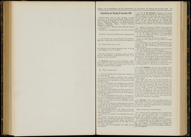 Raadsverslagen van de gemeente Leeuwarden, 1865-2007 (Notulen) 1908-12-22