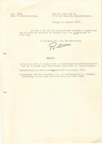 raadsverslagen Idaarderadeel 1935-1983 1957-10-16