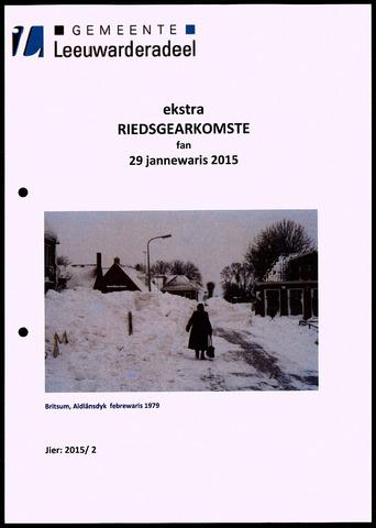 Notulen van de gemeenteraad van Leeuwarderadeel 2015-01-29