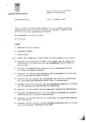 Boarnsterhim vergaderstukken gemeenteraad  1984-01-17