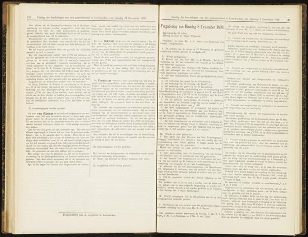 Raadsverslagen van de gemeente Leeuwarden, 1865-2007 (Notulen) 1896-12-08
