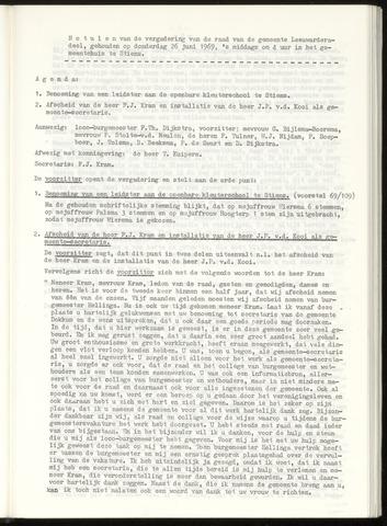 Notulen van de gemeenteraad van Leeuwarderadeel 1969-06-26