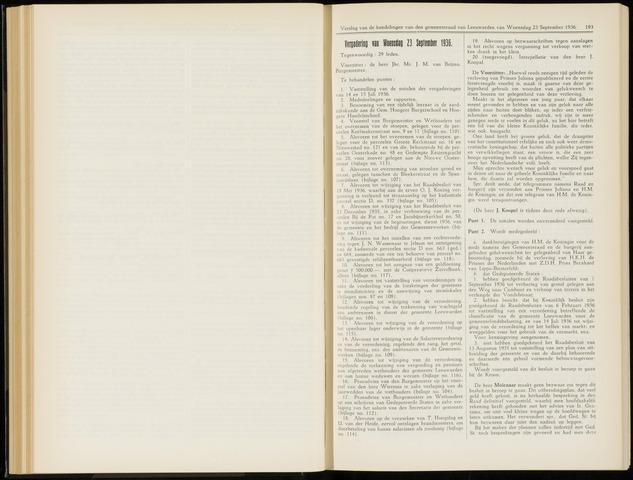 Raadsverslagen van de gemeente Leeuwarden, 1865-2007 (Notulen) 1936-09-23