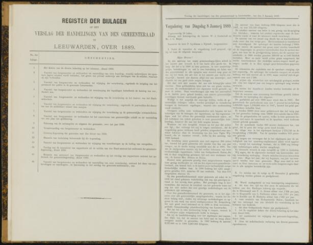 Raadsverslagen van de gemeente Leeuwarden, 1865-2007 (Notulen) 1889
