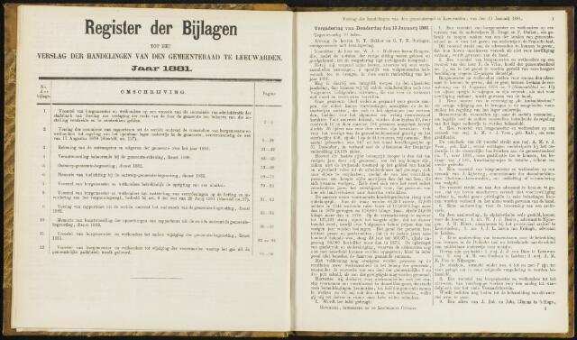 Raadsverslagen van de gemeente Leeuwarden, 1865-2007 (Notulen) 1881