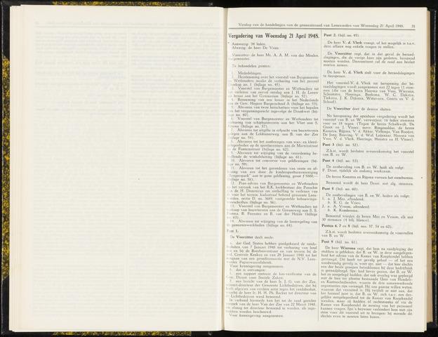 Raadsverslagen van de gemeente Leeuwarden, 1865-2007 (Notulen) 1948-04-21
