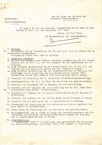 raadsverslagen Idaarderadeel 1935-1983 1952-07-31