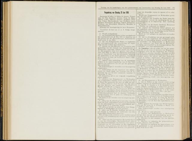 Raadsverslagen van de gemeente Leeuwarden, 1865-2007 (Notulen) 1918-06-25