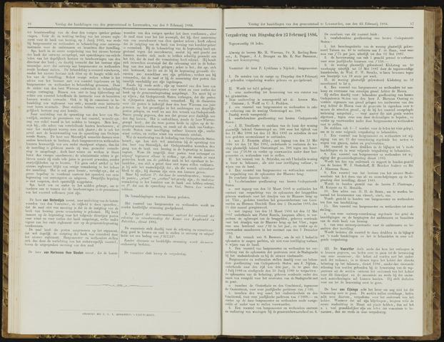 Raadsverslagen van de gemeente Leeuwarden, 1865-2007 (Notulen) 1886-02-23