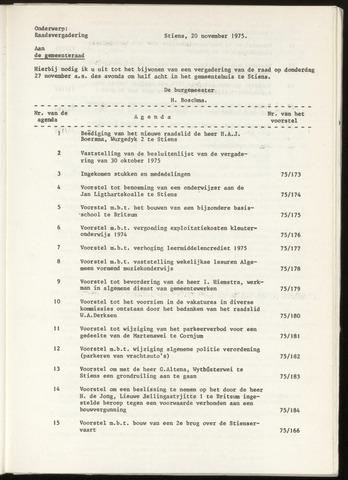 Notulen van de gemeenteraad van Leeuwarderadeel 1975-10-30