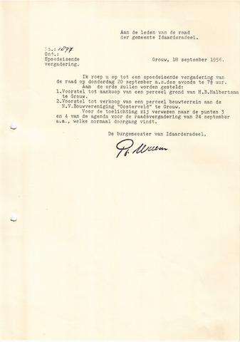 raadsverslagen Idaarderadeel 1935-1983 1956-09-20