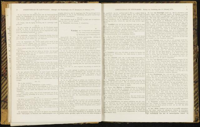 Raadsverslagen van de gemeente Leeuwarden, 1865-2007 (Notulen) 1870-02-10
