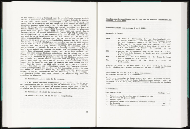 Raadsverslagen van de gemeente Leeuwarden, 1865-2007 (Notulen) 1990-04-02