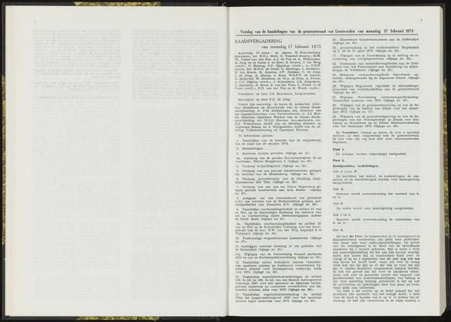 Raadsverslagen van de gemeente Leeuwarden, 1865-2007 (Notulen) 1975-02-17