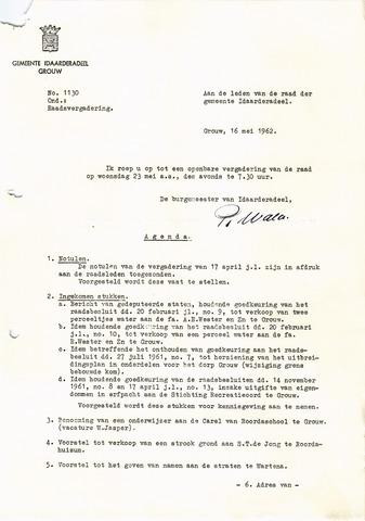 raadsverslagen Idaarderadeel 1935-1983 1962-05-23