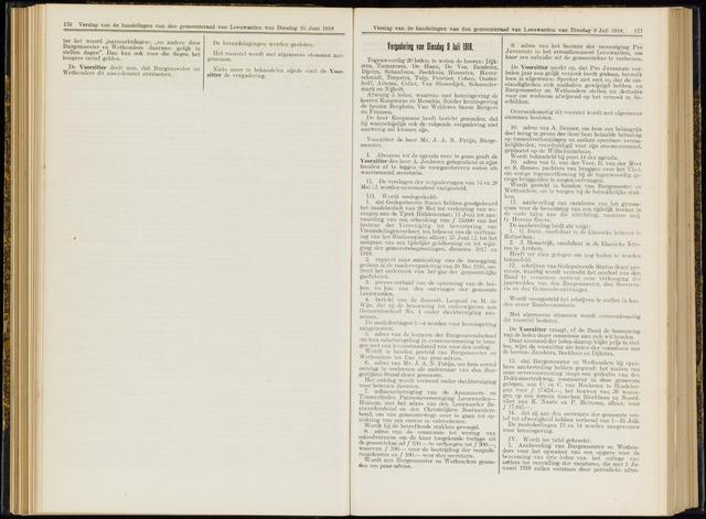Raadsverslagen van de gemeente Leeuwarden, 1865-2007 (Notulen) 1918-07-09