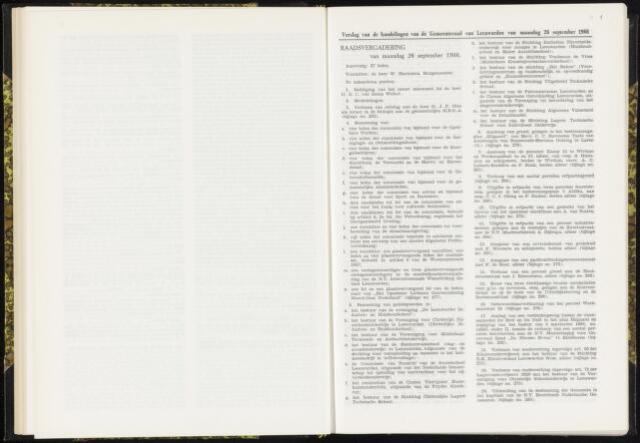 Raadsverslagen van de gemeente Leeuwarden, 1865-2007 (Notulen) 1966-09-26