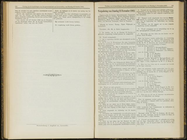 Raadsverslagen van de gemeente Leeuwarden, 1865-2007 (Notulen) 1902-11-11