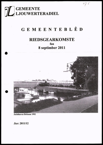 Notulen van de gemeenteraad van Leeuwarderadeel 2011-09-08