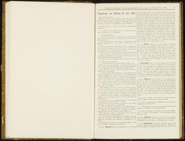 Raadsverslagen van de gemeente Leeuwarden, 1865-2007 (Notulen) 1892-07-26