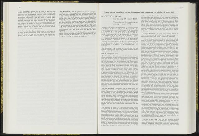 Raadsverslagen van de gemeente Leeuwarden, 1865-2007 (Notulen) 1969-03-18